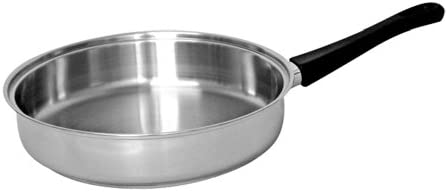Tuxton Home Reno 10 Inch Open Frypan Stainless Steel, PFTE PFOA Free, Freezer to Oven Safe, Induction Compatible
