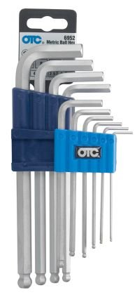 OTC 6952 Metric Ball Hex L Key Set - 10 Piece