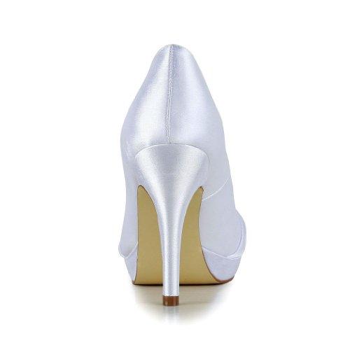 3708b Sposa Wedding Jia Donna Bianco Col Tacco Scarpe qBT8xw4gv