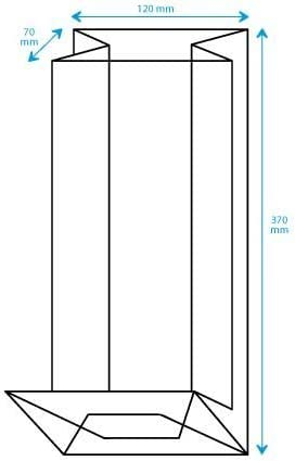 caramelle Pz 100 Sacchetti Trasparenti Plastica PPL Con Fondello in Carta Bianca Per Alimenti Buste PPL 130+80x370 mm Fondo Quadro Adatti al confezionamento di biscotti pasta Dalbags minuteria...