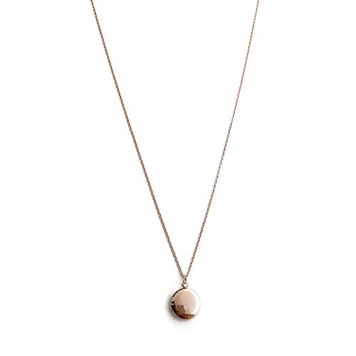 (HONEYCAT Keepsake Locket Necklace in 18k Rose Gold Plate | Delicate Jewelry)