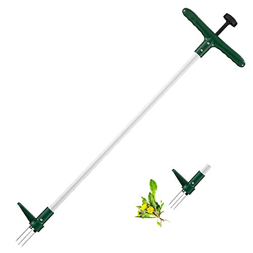 Walensee Weed Puller, Stand Up Weeder Hand Tool, Long Handle Garden Weeding Tool with 3 Claws, Hand Weed Hound Weed…