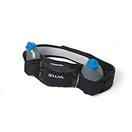 Silva Hydration Running Belt Distance Light 2 Water Bottles Lightweight Reflective