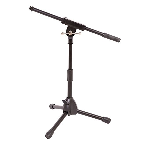 Stage Rocker Powered by Hamilton SR610121B Lo-Profile Mic Boom Stand - Black