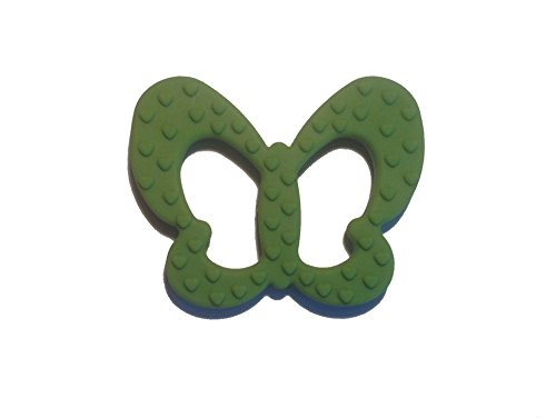 Cute Butterfly Baby Teether Toys Sitrus Co. FDA Approved & BPA- Free Bright Pink & Vivid Green by Sitrus Co