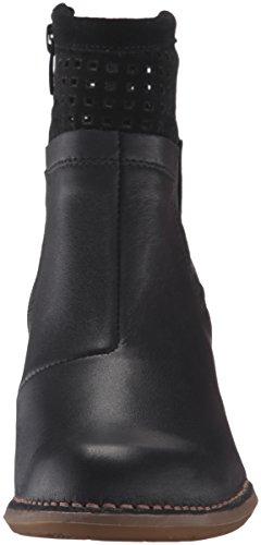 El Naturalista N495 Ibon-Lux Suede Colibri, Botines para Mujer Negro (Black)
