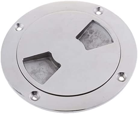 Stainless Steel 123mm Boat Deck Plate Marine Grade Inspection Port
