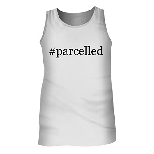 Tracy Gifts #parcelled - Men's Hashtag Adult Tank Top, White, - Service Merchandise United Parcel