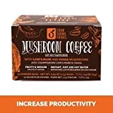 Mushroom Coffee with Lion's Mane and Chaga, 10 Bags by Four Sigma Foods Inc (Pack of 2)