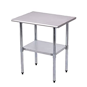 Goplus Stainless Steel Work Table Prep Work Table For Commercial Kitchen  Restaurant (24u0026quot; X