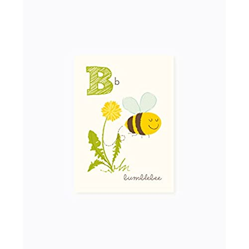Sea Urchin Studio ABC Wall Art For Kids B Bumblebee