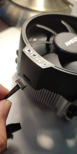 AMD Wraith Spire Socket AM4 4-Pin Connector CPU Cooler With Copper Core Base & Aluminum Heatsink & 3.81-Inch Fan RGB LED Light fr Ryzen R7 by TT Racing (Image #3)