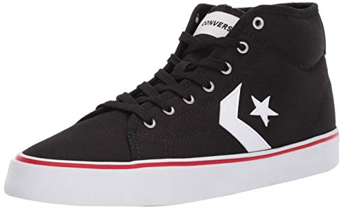(Converse Men's Unisex Star Replay Mid Top Sneaker Black/White, 10 M US)