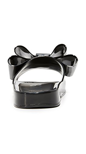 Melissa Mujeres Bow Beach Slides Black