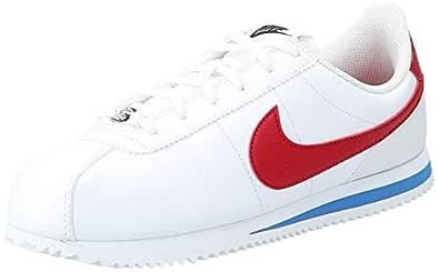 Nike Kid's Cortez Basic SL GS, White/Varsity RED, Youth Size 4