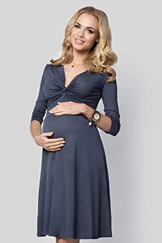 hi!mom Womens Maternity Mini Dress 3//4 Sleeve Asymmetric Neckline Tunic Plus Sizes 8-18 6407
