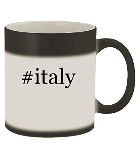 #italy - 11oz Hashtag Magic Color Changing Mug, Matte Black