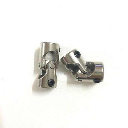 xunji ajie 1 Paire de 6 x 5 mm Mé tal Flexible Rotule femelle/femelle Mini Cardan d'onde femelle Angle pour RC Bateau XUNJIAJIE