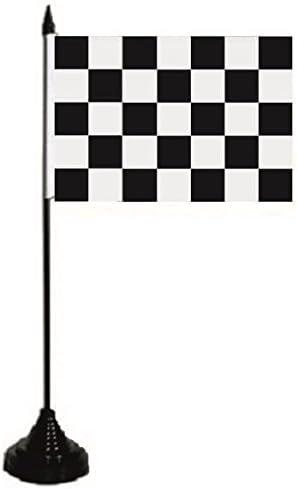 U24 Tischflagge Motorsport Ziel Zielflagge Flagge Fahne Tischfahne 10 x 15 cm