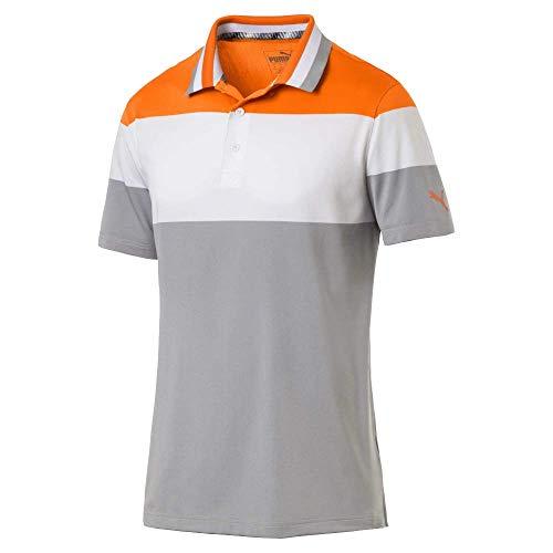 Puma Golf Men's 2019 Nineties Polo, Vibrant Orange, XX-Large