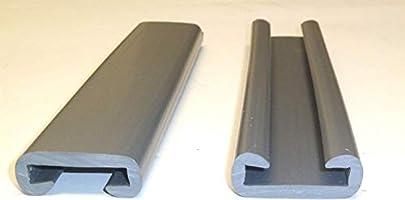 Pasamanos inoxidable rectangular 40/x 20/mm gris