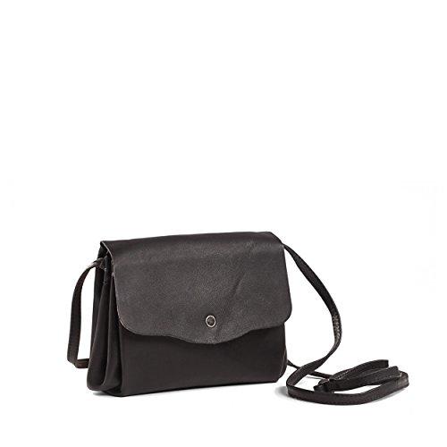 Kisim Timeless Women Flora Soft Leather Evening Purse, Onesize - 4.3''x6.6''x1.18'' (Black) by Kisim