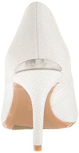 de Calvin Klein Bomba Blanco Vestido Platino Gayle OFqwP4xd