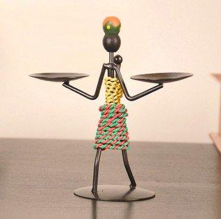 Creativo hogar decoración Hierro Hombre clestick CLE luz ...