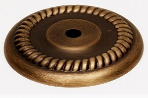 English Rope Solid Brass (Alno A813-38P-AE Rope Traditional Backplates, Antique English, 1-1/2