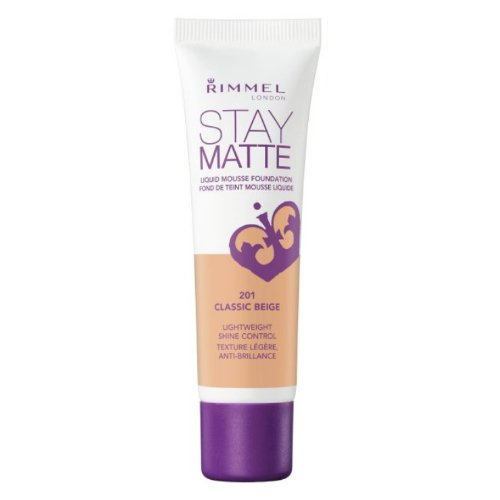 RIMMEL LONDON Stay Matte Liquid Mousse Foundation - Classic Beige (Pack of 3)