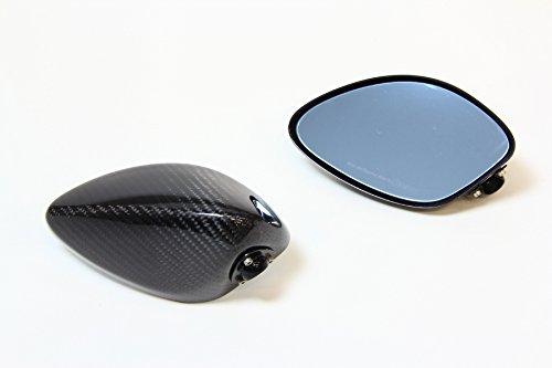 マジカルレーシング(MAGICAL RACING) レーサーレプリカミラー タイプ2 ヘッド(平織りカーボン) シルバー スーパーロングステム 65mm Bタイプ[取付ピッチ:40~51mm] A01-CARS-B1002 B00C97NPPE ヘッド:平織りカーボンステム&フィッティングプレート:シルバー|ヘッド:タイプ2 ヘッド:平織りカーボンステム&フィッティングプレート:シルバー