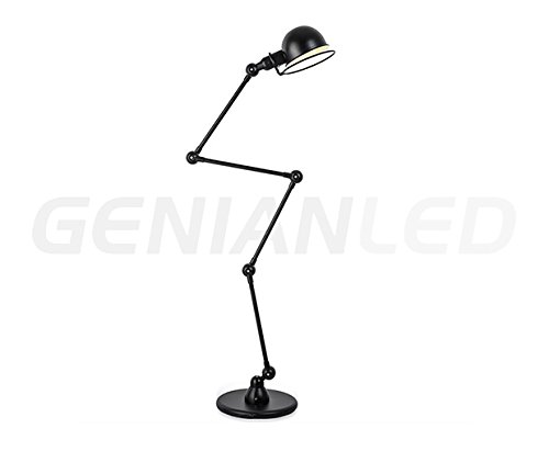 Lámpara de Pie de Color Negro de Estilo Retro Vintage ...