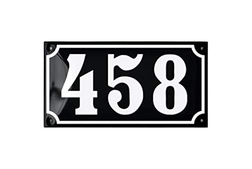 Ramsign Personalized House Number Sign. Porcelain Enamel. 8.3