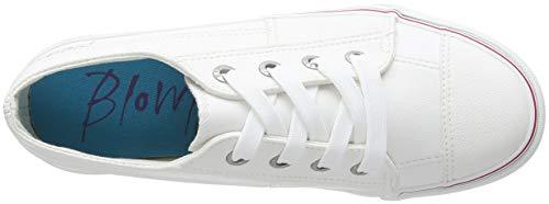 Cecilia para Pacific Blowfish EU Zapatillas 104 38 White PU Mujer 7Bf7Hqw4x