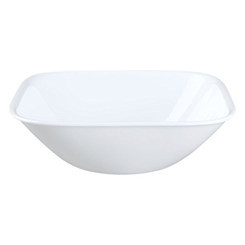 Corelle Square Pure White 22 Ounce Soup/Cereal Bowl (Set of (Corelle Square Bowls)