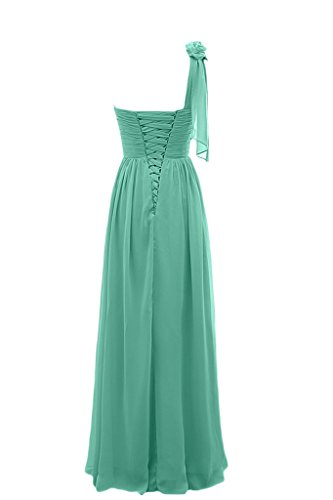 sunvary a-line Sweetheart inclinado hombro Fiesta Vestidos dama de honor Verde