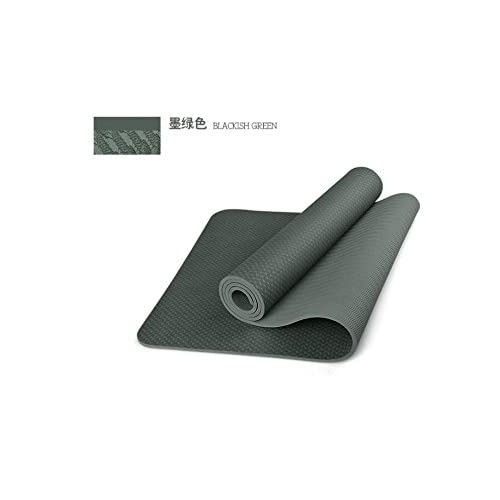 Shi18Sport Tapis De Yoga Tpe L'Épaississement, L'Allongement Des Tapis De Sol Fitness Sports, Insipide Couverture Yoga Vert