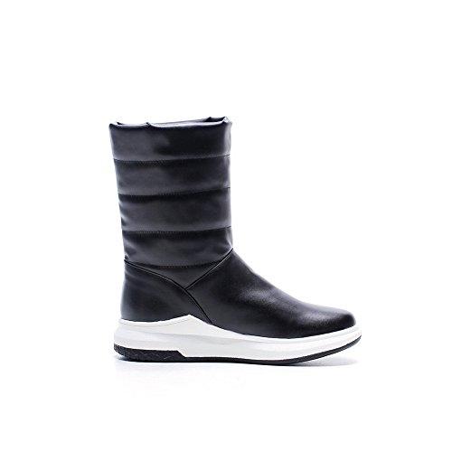 Boots No Boots Womens ABL10505 Black Calf Mid BalaMasa Closure Snow Urethane CwEa6qxnTX