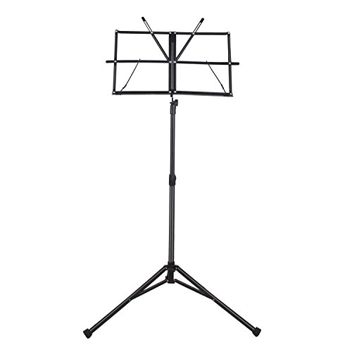 Mugig-Music-Stand-Sheet-Folding-Music-Holder-for-Instrument-Books-with-Carry-Bag-Black