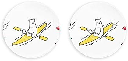 Stupid Polar Bear Humor Sport 2 piezas sacacorchos abridor de botellas nevera círculo imanes