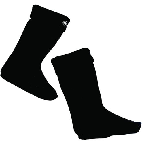 Briers Große Fleece Wellington Warmers Boot – Schwarz