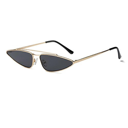 Retro Gafas Lente Oro gato de súper UV C2 Pequeña sol Mujer Gafas para de Gota Escoger Anti Xinvision Metal de agua Moda Gris Del Ojo Color Estilo 6 Marco qTx1f1U