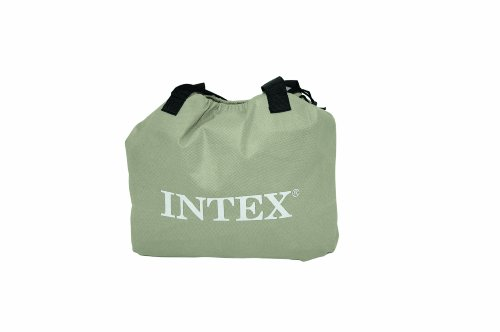 Intex Pillow Rest Raised Airbed with Built-in Pillow and Electric Pump, Queen,...