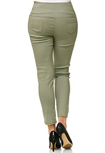 Femmes Jeans Taille Pantalon Haute usag en Vert pour D2490 Denim fB15qngZ