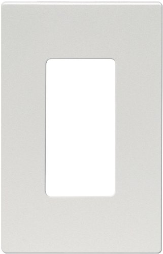 (Eaton 9521SG-P ASPIRE Thermoplastic 1-Gang Screwless Mid-Size Wall Plate, Silver Granite)