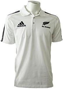 adidas AB POLO Camiseta Polo Blanco Negro para Hombre Rugby All ...