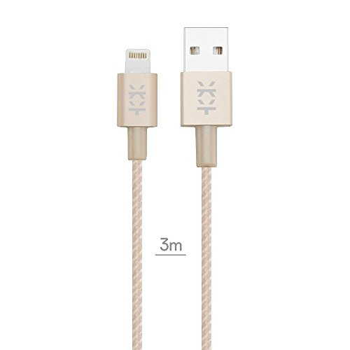 Mixberry MCAL300TGL Cavo Lightning USB Apple Certificato, 3 Metri, Oro