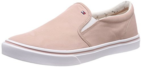 Femme Slip Basses Rose Hilfiger Light Weight Tommy 502 dusty On Metallic Sneakers qT8UI1