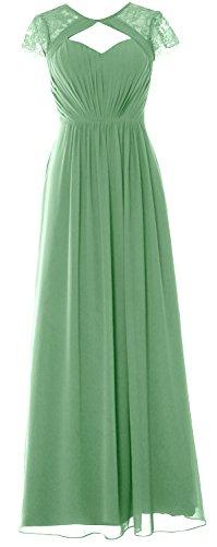 2018 Clover Bridesmaid Long Cap Evening Sleeves Formal Macloth Dress Elegant Gown wSYq44