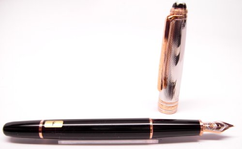 Montblanc Meisterstuck Solitaire Doue Sterling Fountain Pen 144 GP (Rose Gold) 2410 Limited Edition 1924, 75th Anniversary 75260]()
